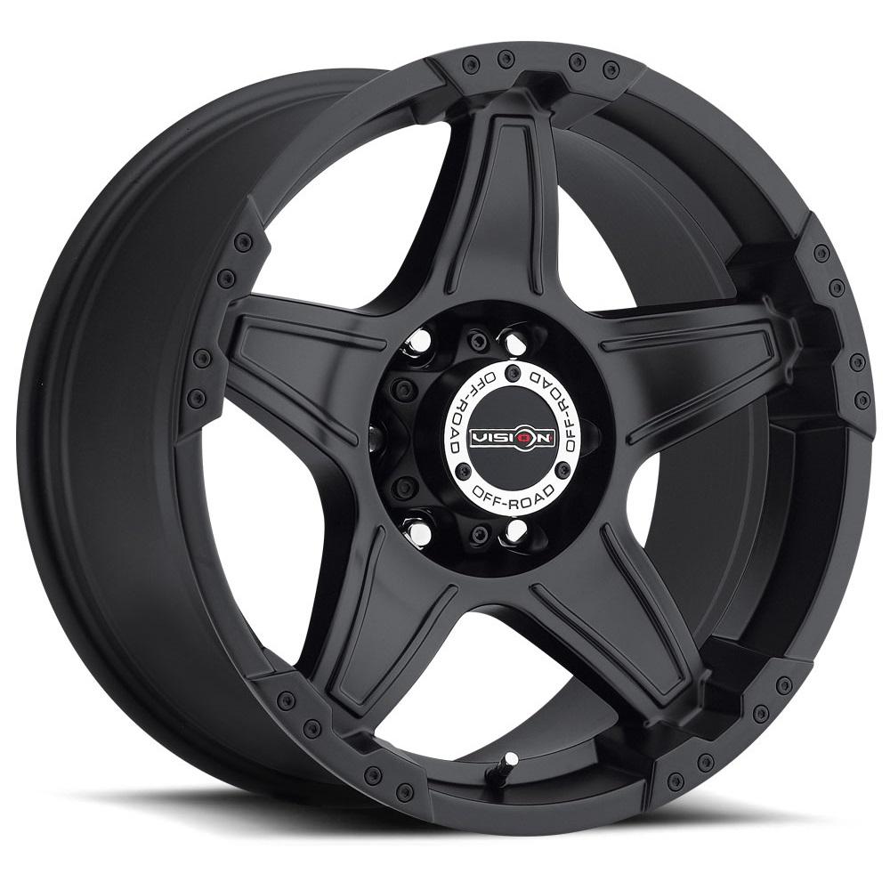 Vision Wheels 395 Wizard - Matte Black Rim