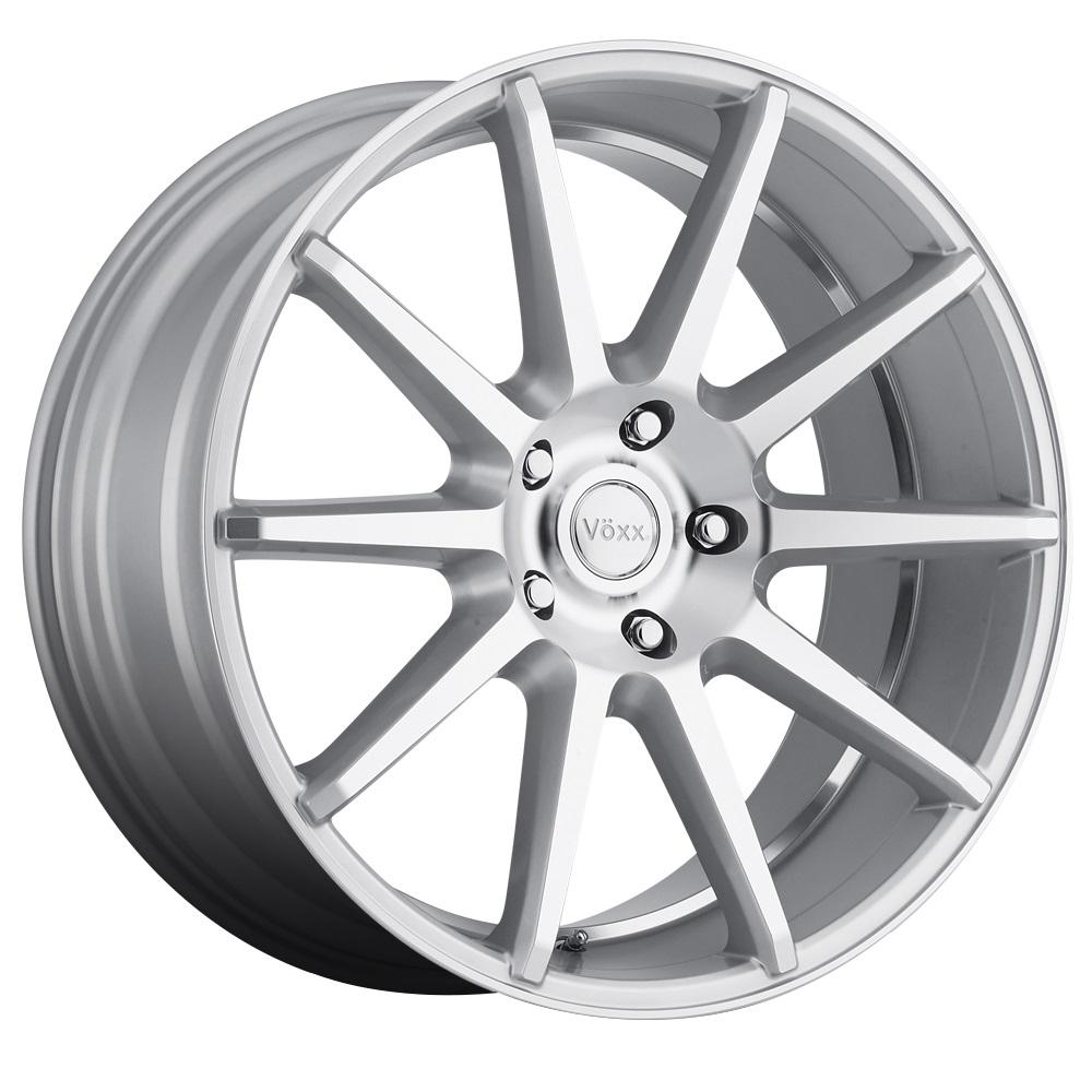 Voxx Wheels Danza - Silver Machined Face and Undercut Rim