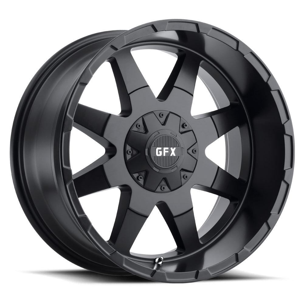 G-FX Wheels TR-12 - Matte Black Rim