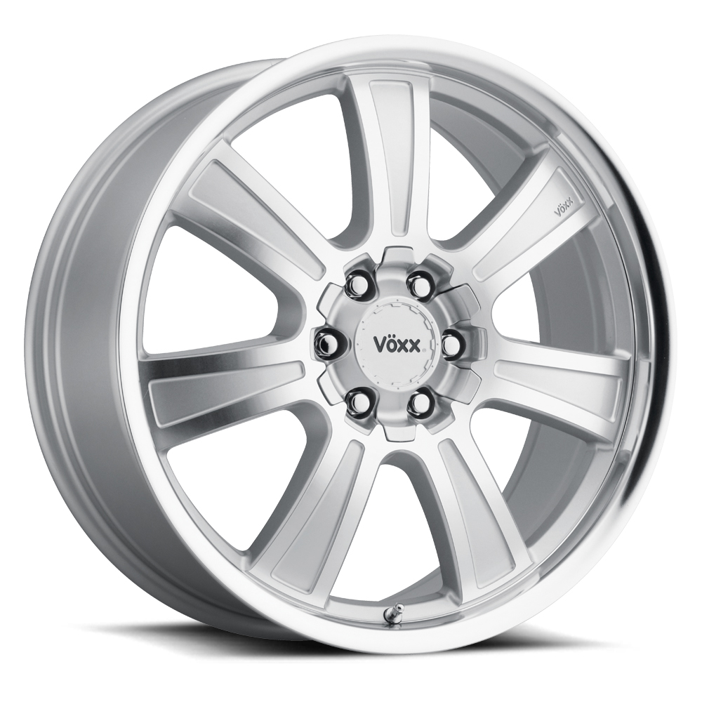 Voxx Wheels Turin - Silver Mirror Machined Face and Lip Rim