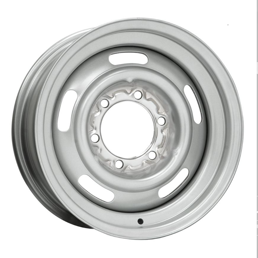 Wheel Vintiques 35 Series 6 Lug Rallye - Silver Rim