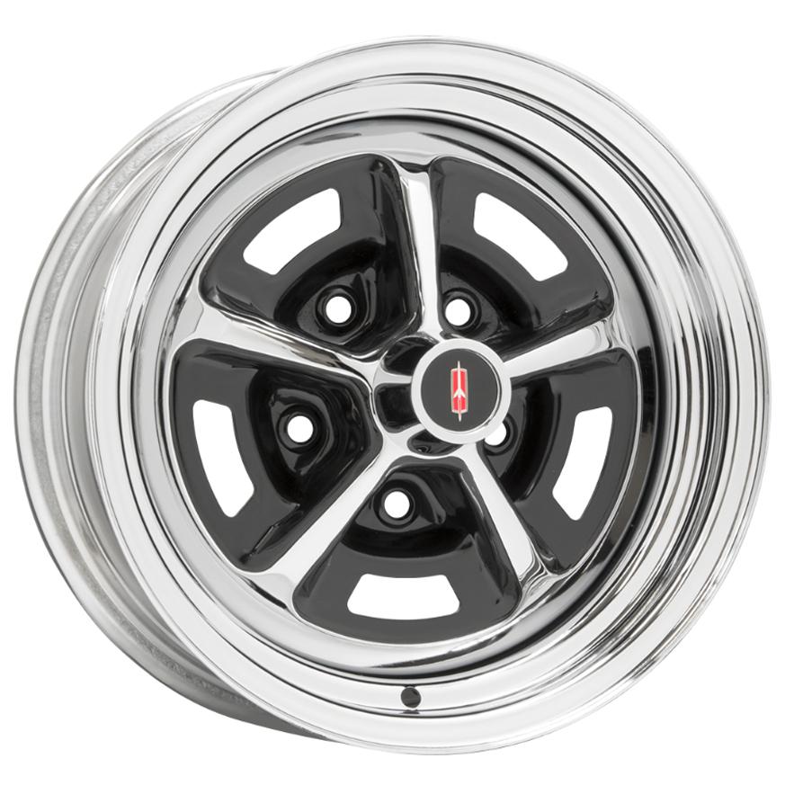 Wheel Vintiques 52 Series Oldsmobile SSI - Chrome/Gloss Black Rim