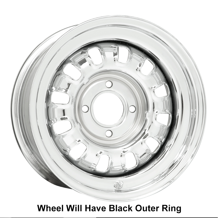 Wheel Vintiques 53 Series Ford GT Rallye - Chrome/Black Rim