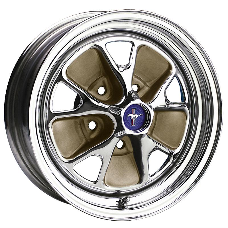 Wheel Vintiques 55 Series Ford Style Steel - Chrome / Mocha