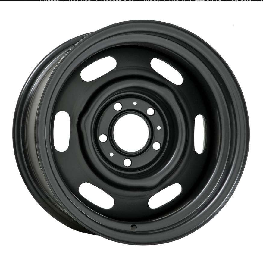 Wheel Vintiques 69 Series Chrysler Police - Satin Black Rim