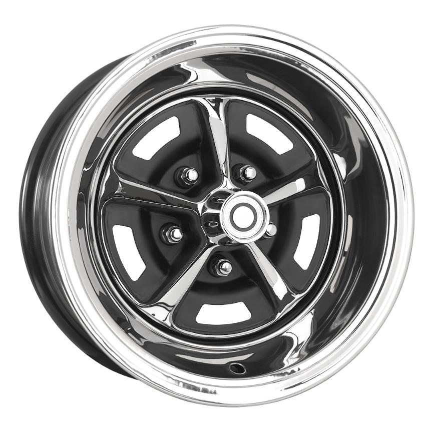 Wheel Vintiques 84 Series Magnum 500 - Chrome/Semi Gloss Black Rim