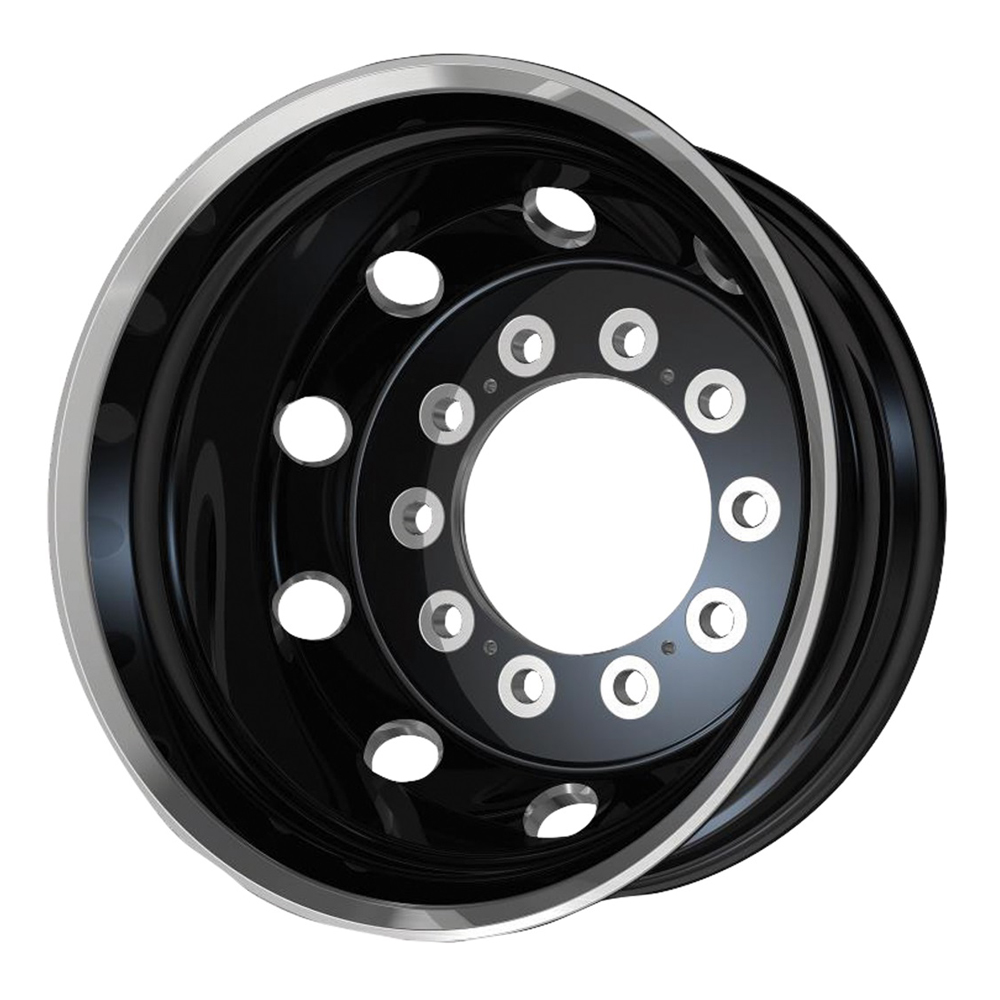 ATX Wheels AO404 Journey Rear - Gloss Black with Polished Lip Rim