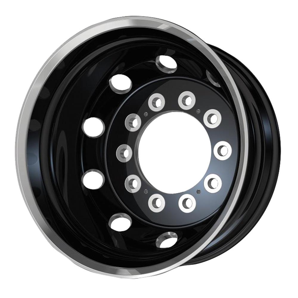 ATX Wheels AO404 Journey Rear - Satin Black With Polished Lip Rim