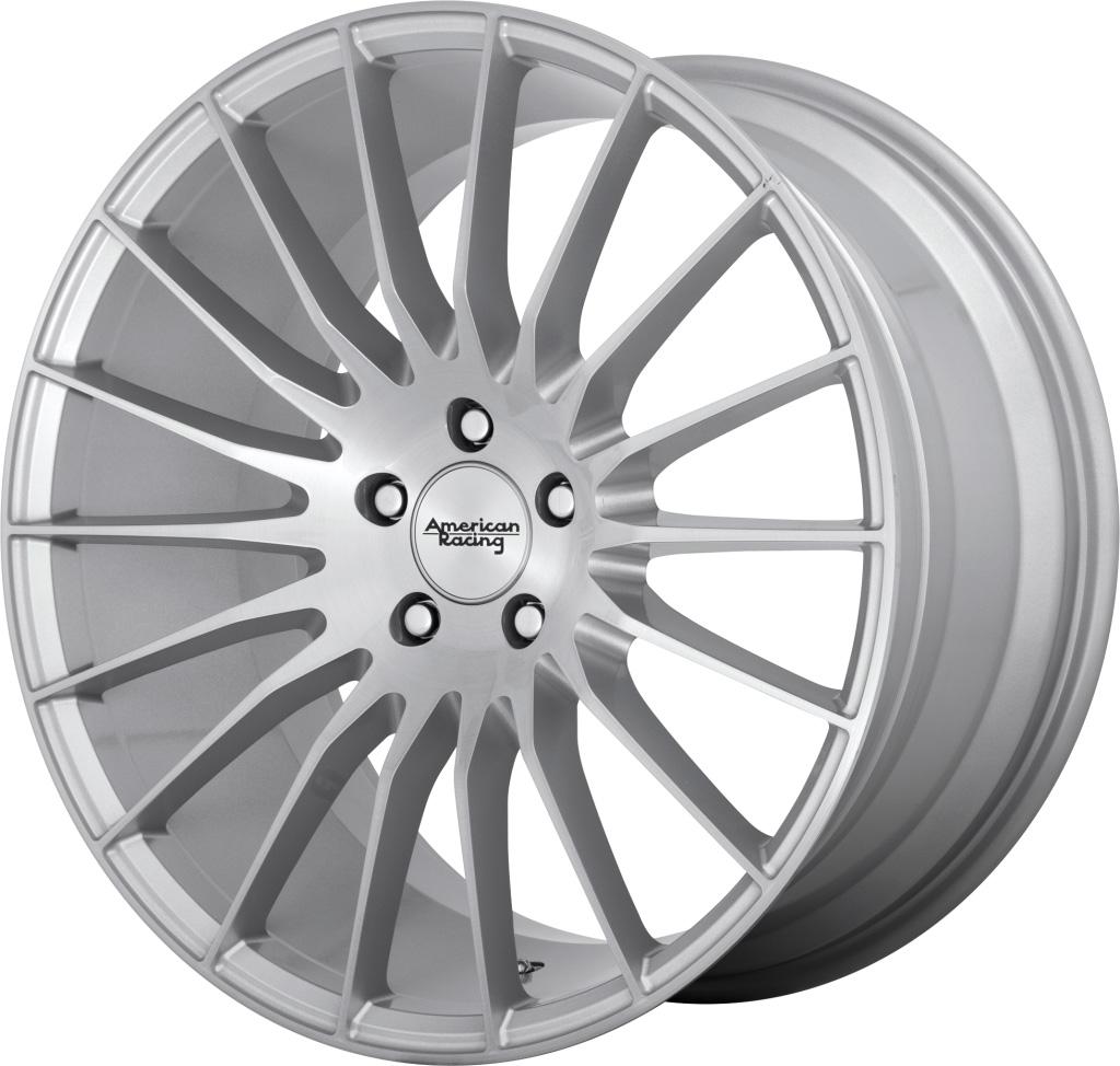 American Racing Wheels AR934 Fastlane - Brushed Silver Rim