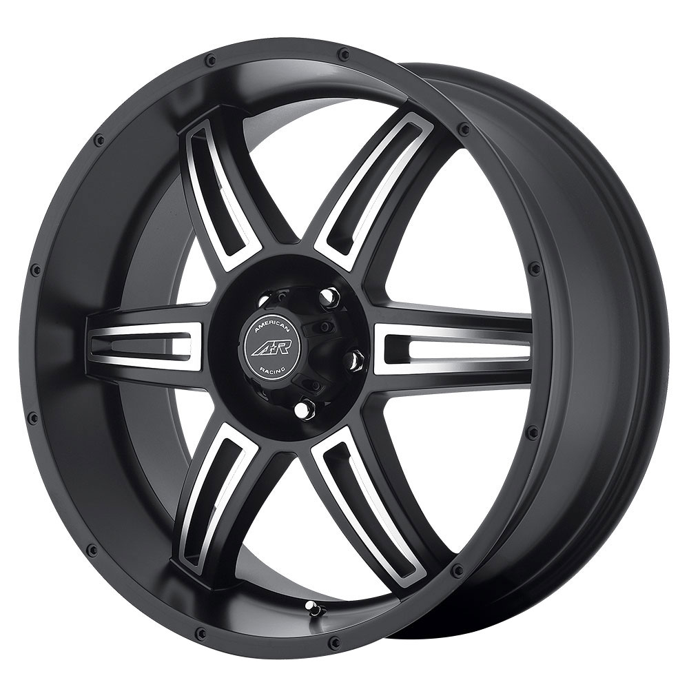 American Racing Wheels AR890 - Satin Black Machined Rim