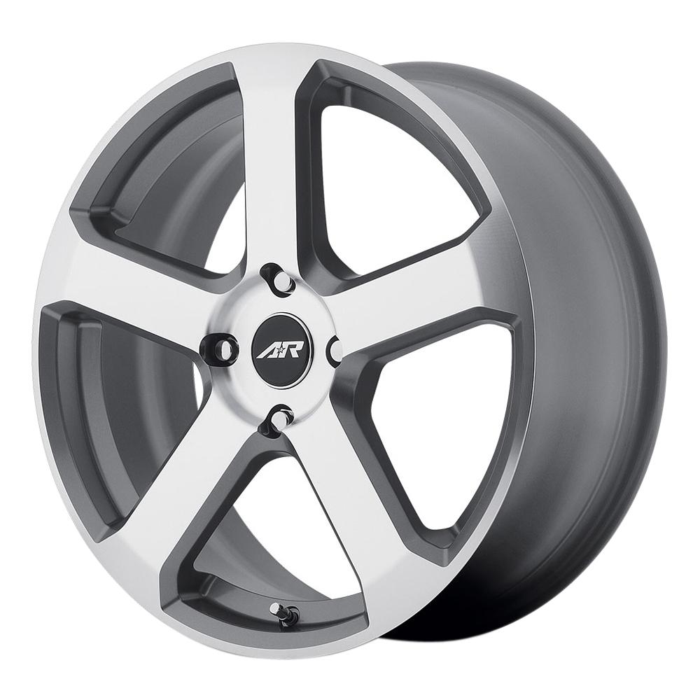 American Racing Wheels AR896 - Dark Silver W/ Machined Face Rim