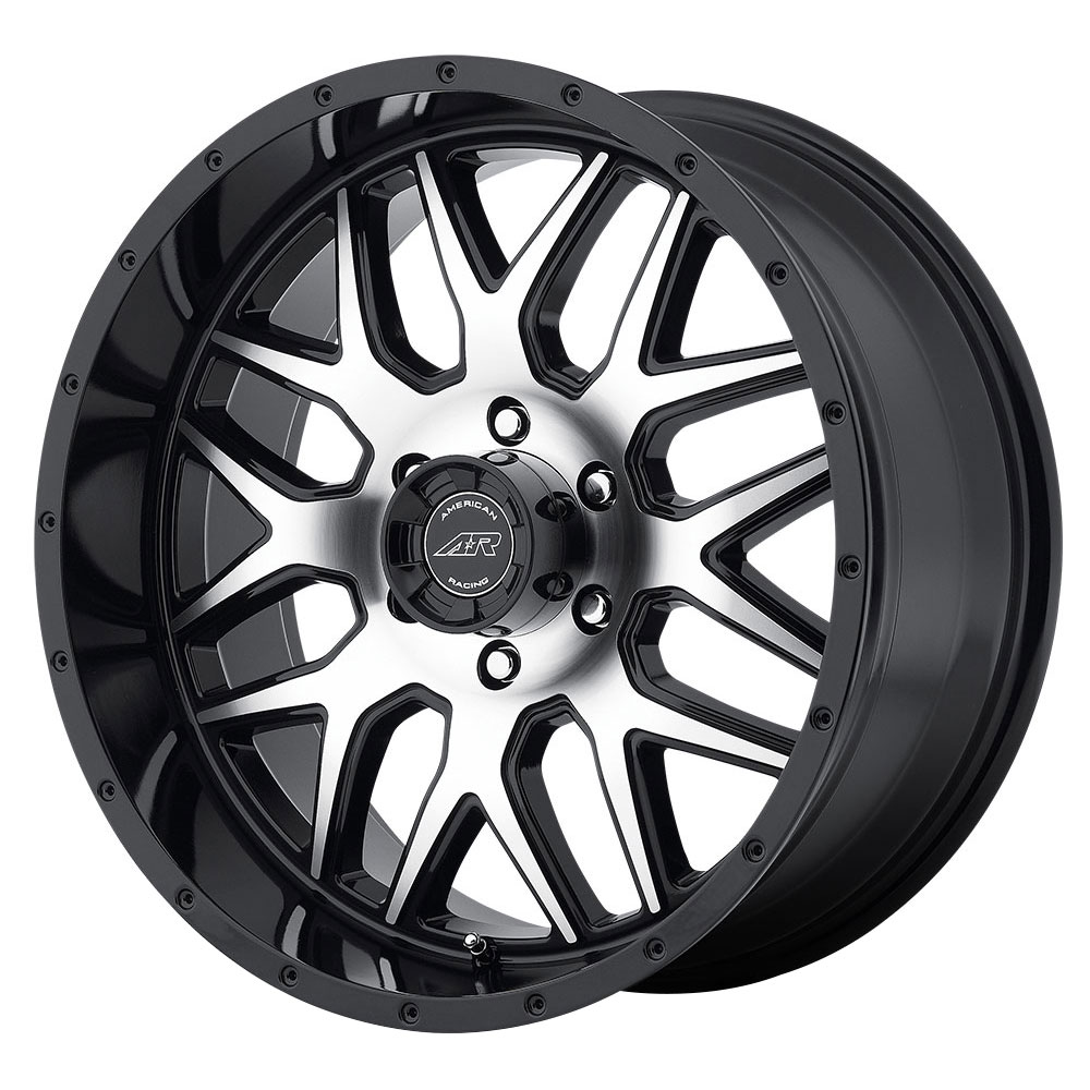 American Racing Wheels AR910 - Gloss Black / Machined Face