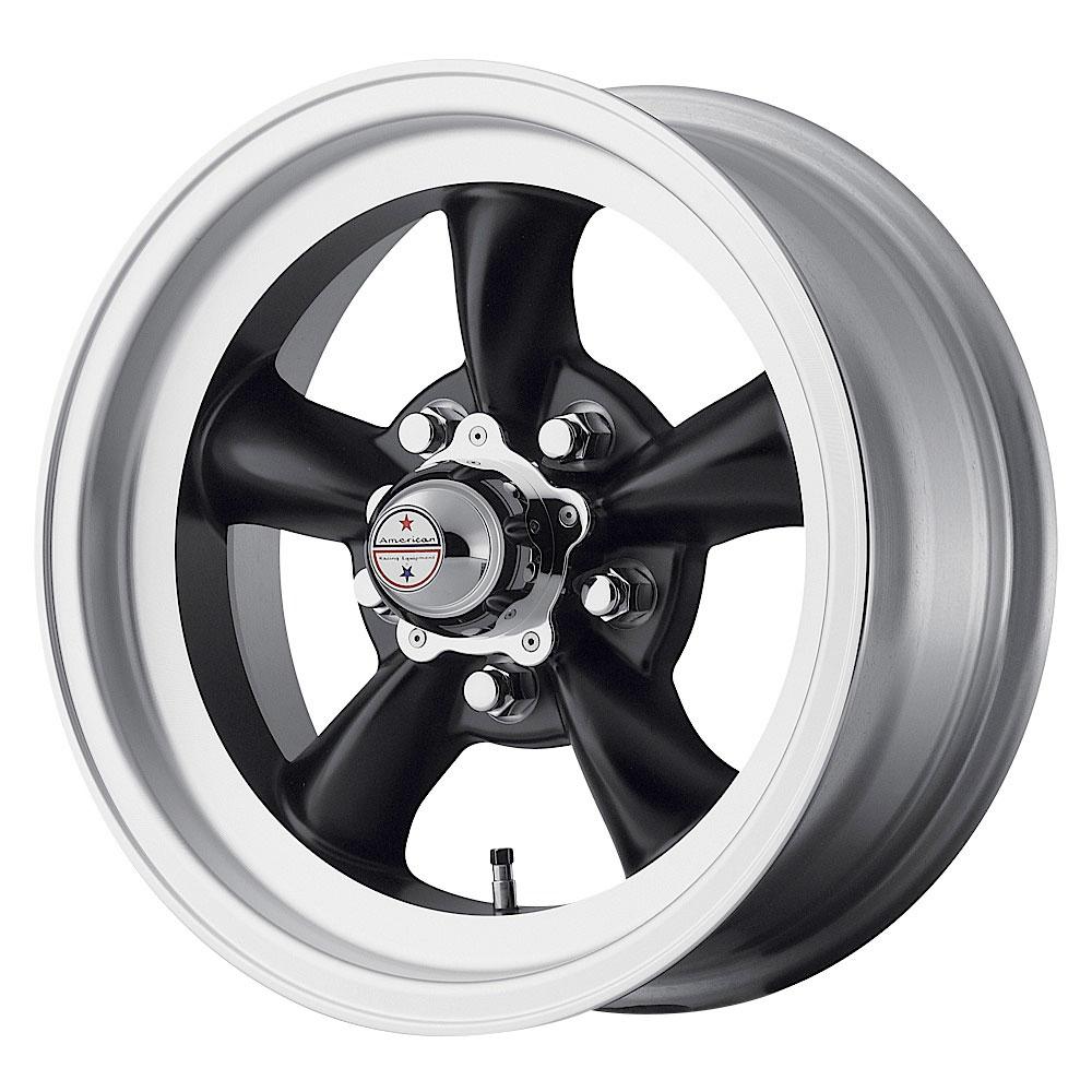 American Racing Wheels VN105 Torq Thrust D - Satin Black with Machined Lip Rim - 15x8.5