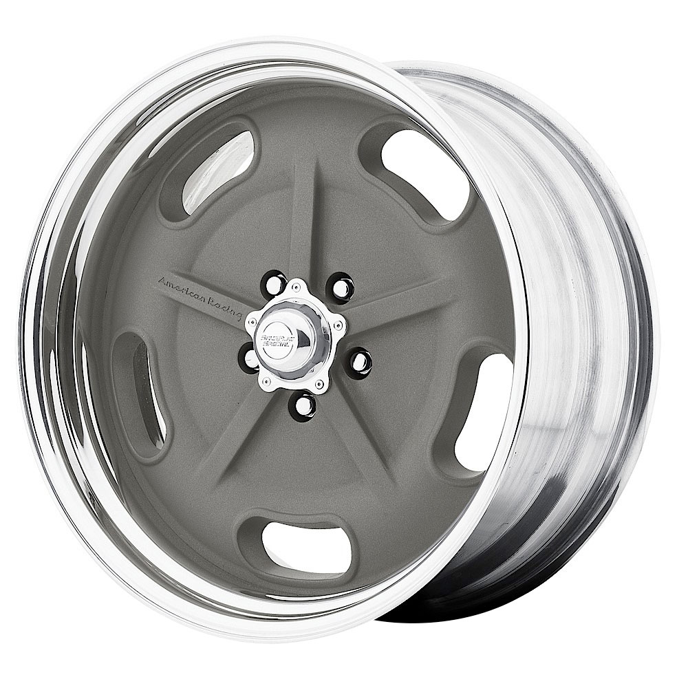 American Racing Wheels VN470 SaltFlat - Mag Gray/Polished Rim