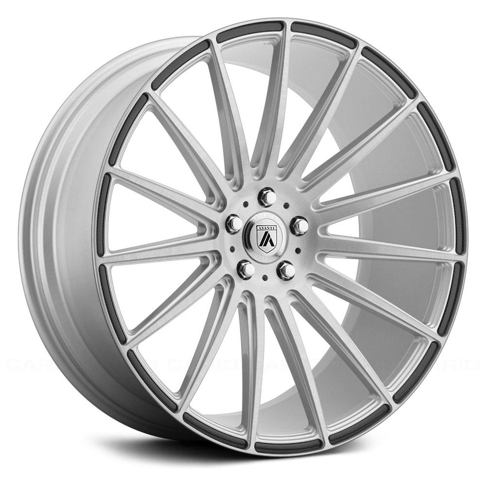 Asanti Wheels ABL-14 Polaris - Brushed Silver with Carbon Fiber Insert Rim