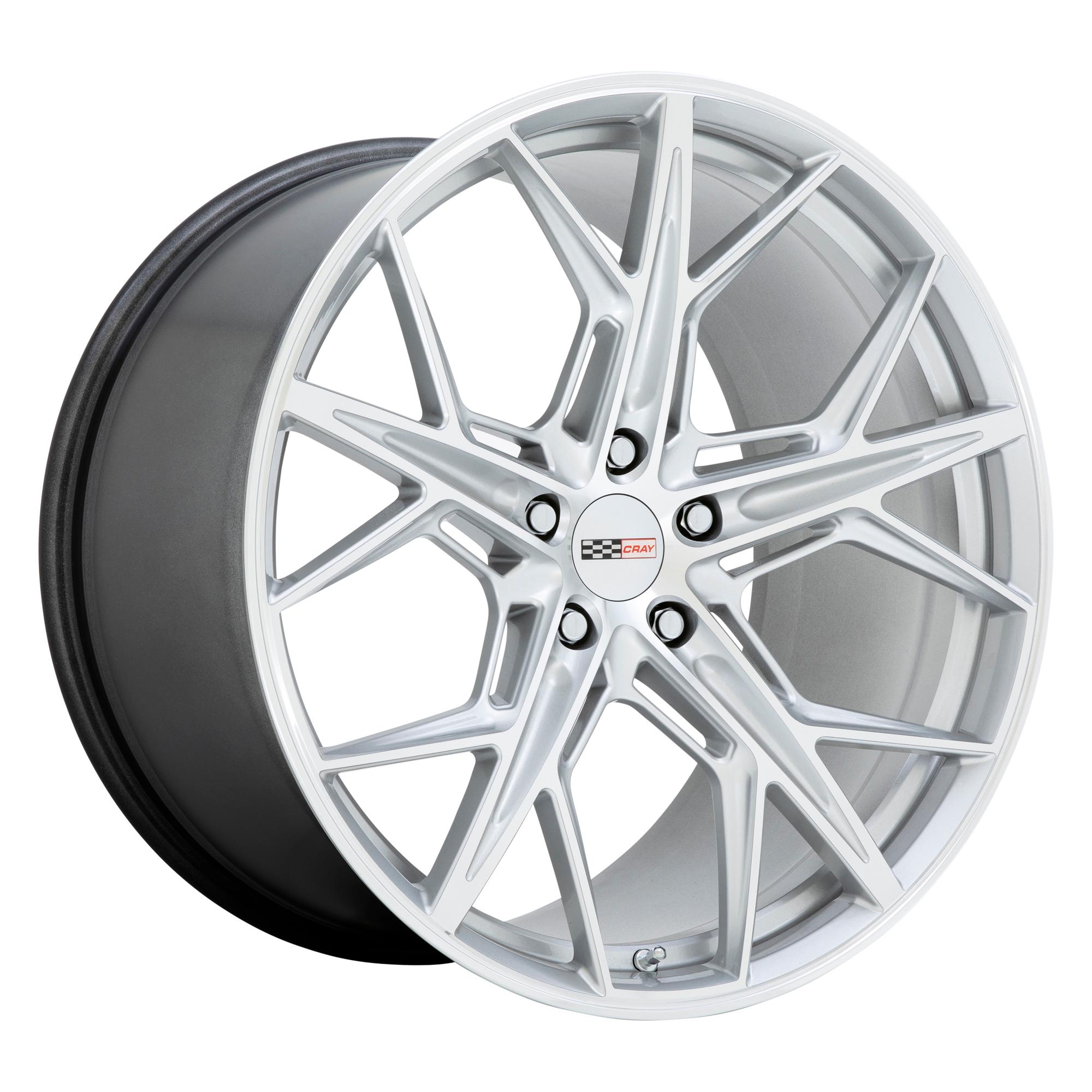 Cray Wheels Hammerhead - Gloss Silver w/Mirror Cut Face Rim