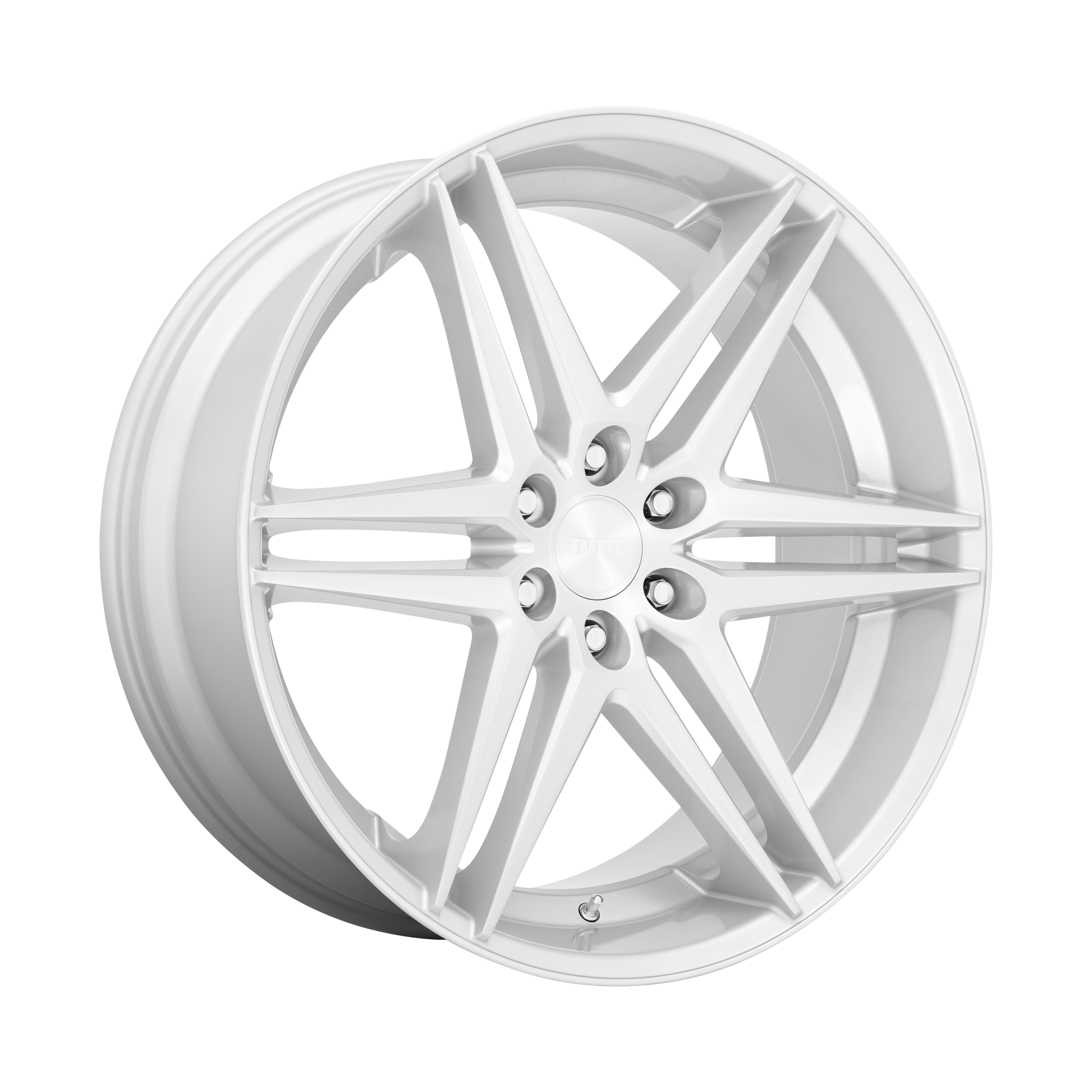 DUB Wheels Dirty Dog (S270) - Silver With Brushed Face Rim