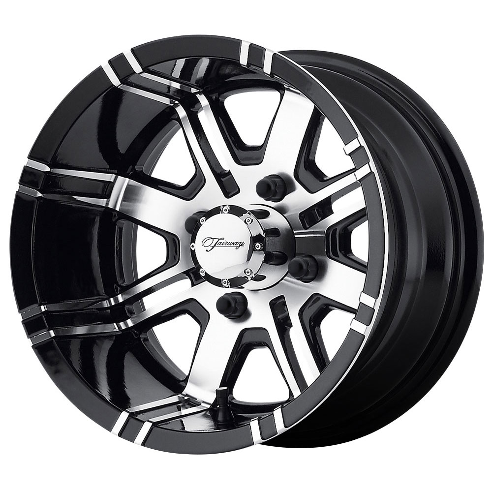 Fairway Alloy Wheels FA119 Aggressor - Machined Gloss Black Rim