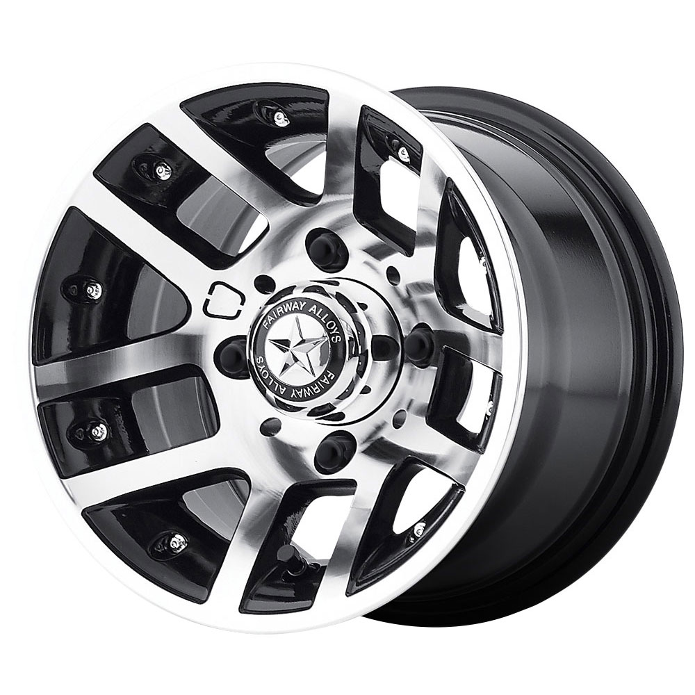 Fairway Alloy Wheels FA121 Illusion - Machined Gloss Black Rim - 10x7