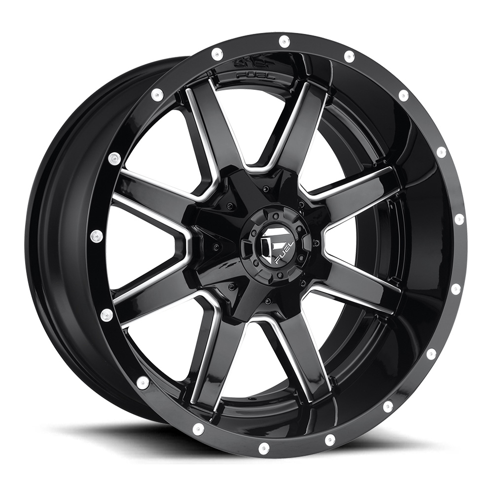 Fuel Wheels Maverick D610 - Gloss Black/Milled Rim