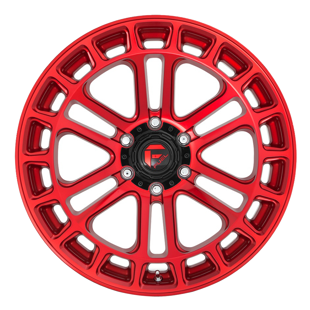 Fuel Wheels D719 Heater - Candy Red Machined Rim