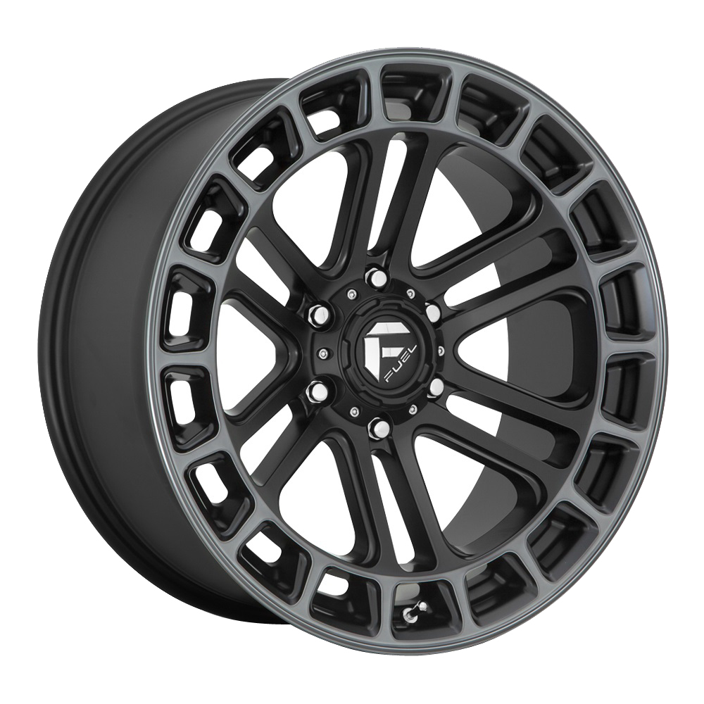 Fuel Wheels D720 Heater - Matte Black Double Dark Tint Machined Rim