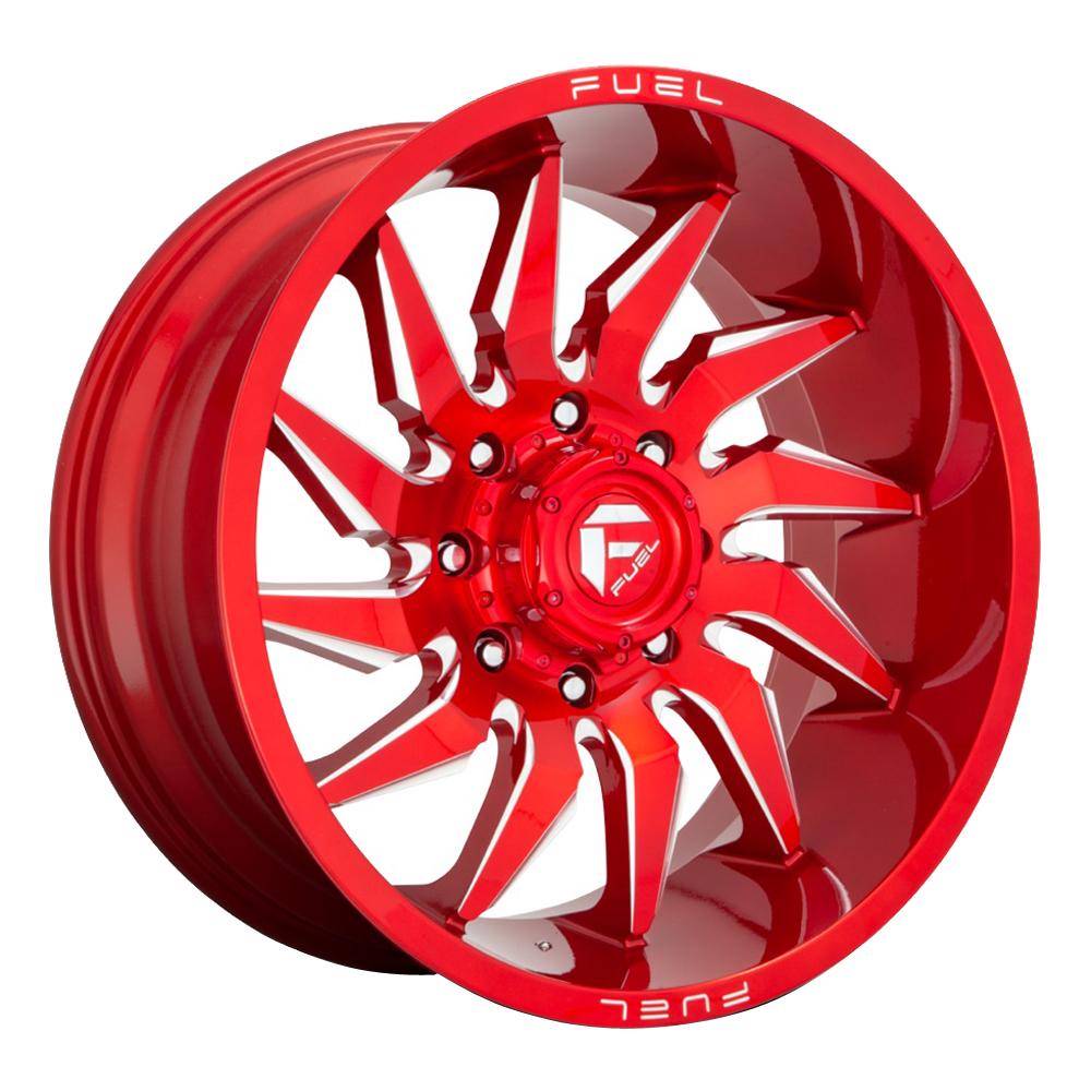Fuel Wheels D745 Saber - Candy Red Milled Rim