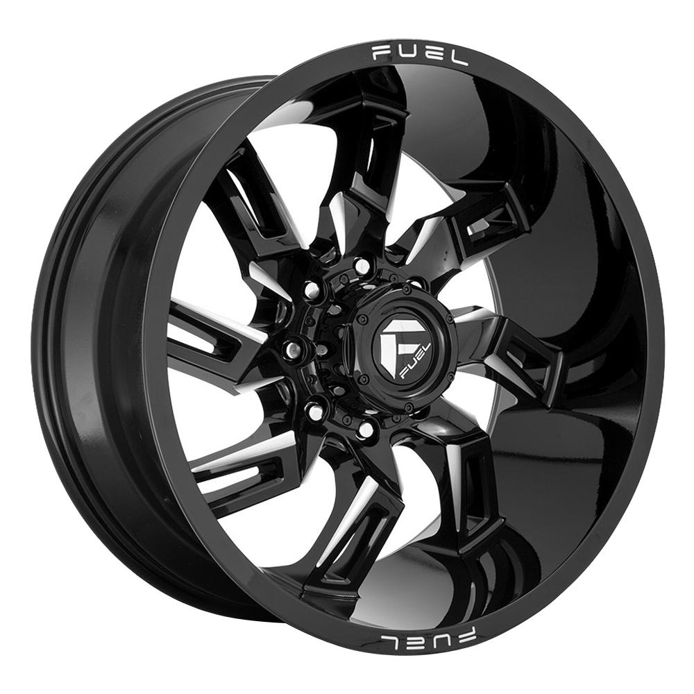Fuel Wheels D747 Lockdown - Gloss Black Milled Rim