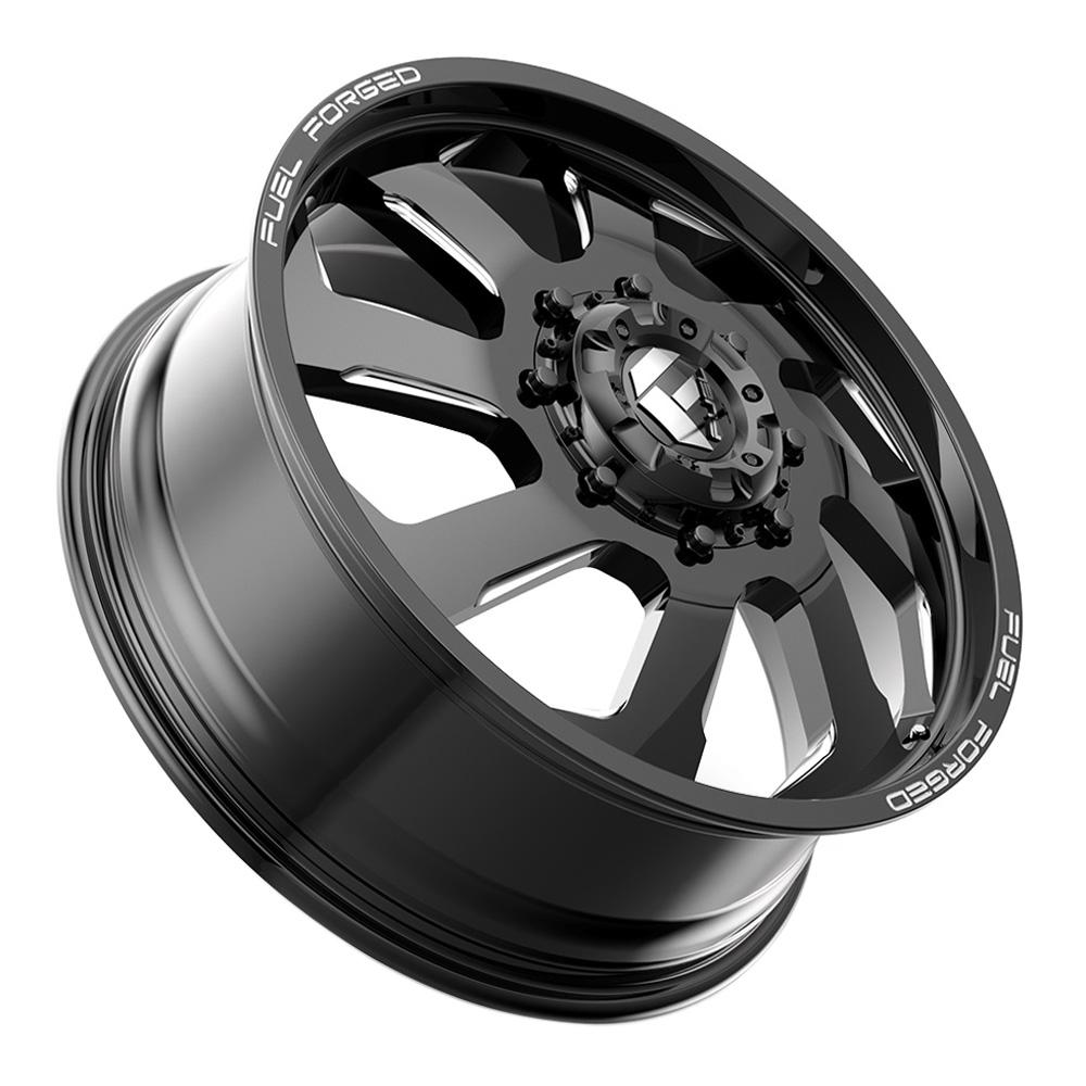 Fuel Wheels Mono DD39 Dually Front - Black Milled Rim