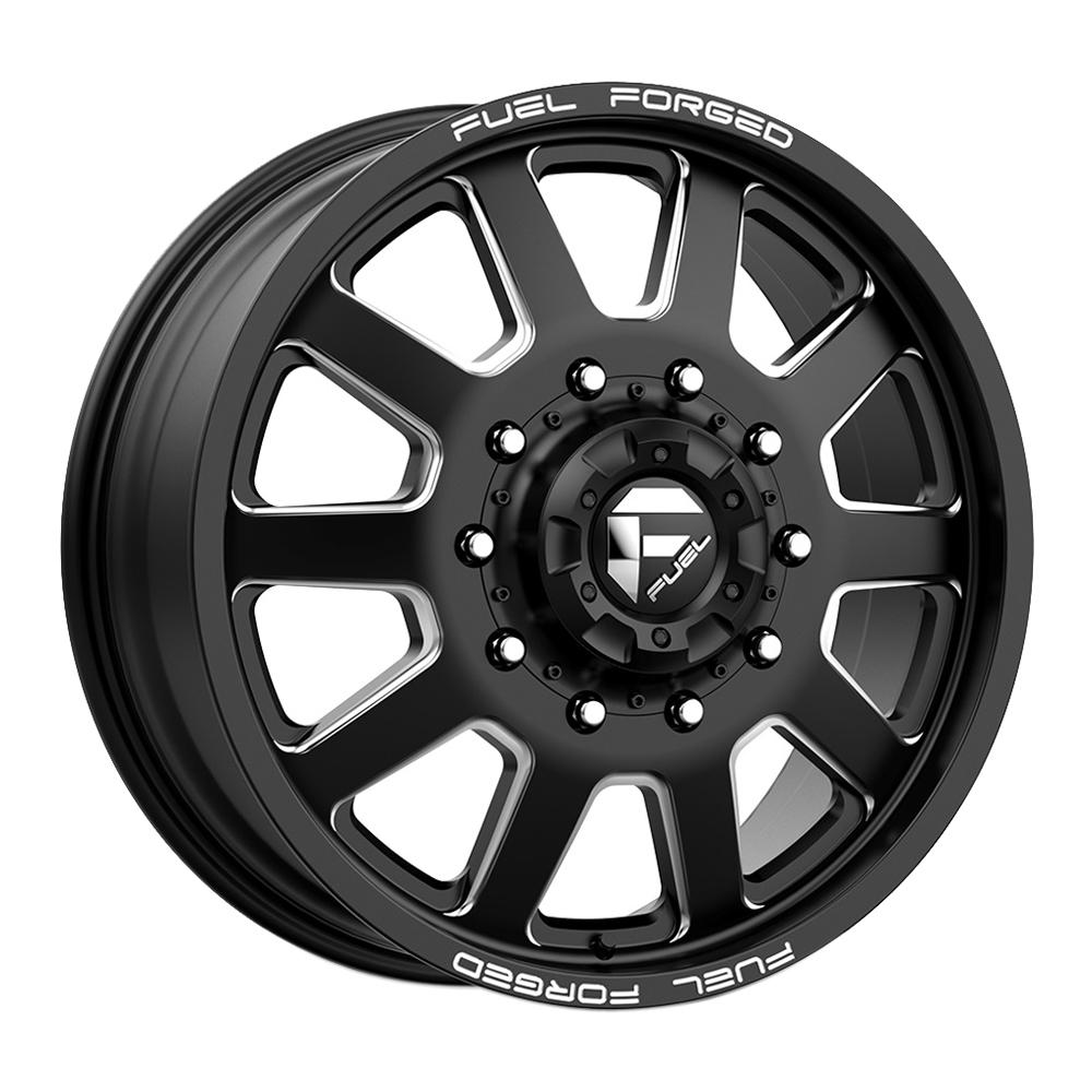 Fuel Wheels Mono DE092 Dually Front - Matte Black Milled Rim
