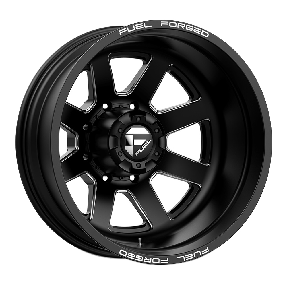 Fuel Wheels Mono DE092 Dually Rear - Matte Black Milled Rim