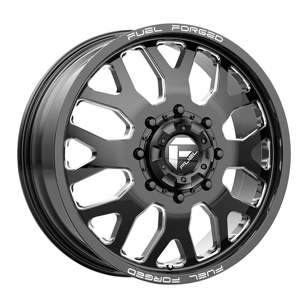 Fuel Wheels Mono DE192 Dually Front - Black Milled Rim