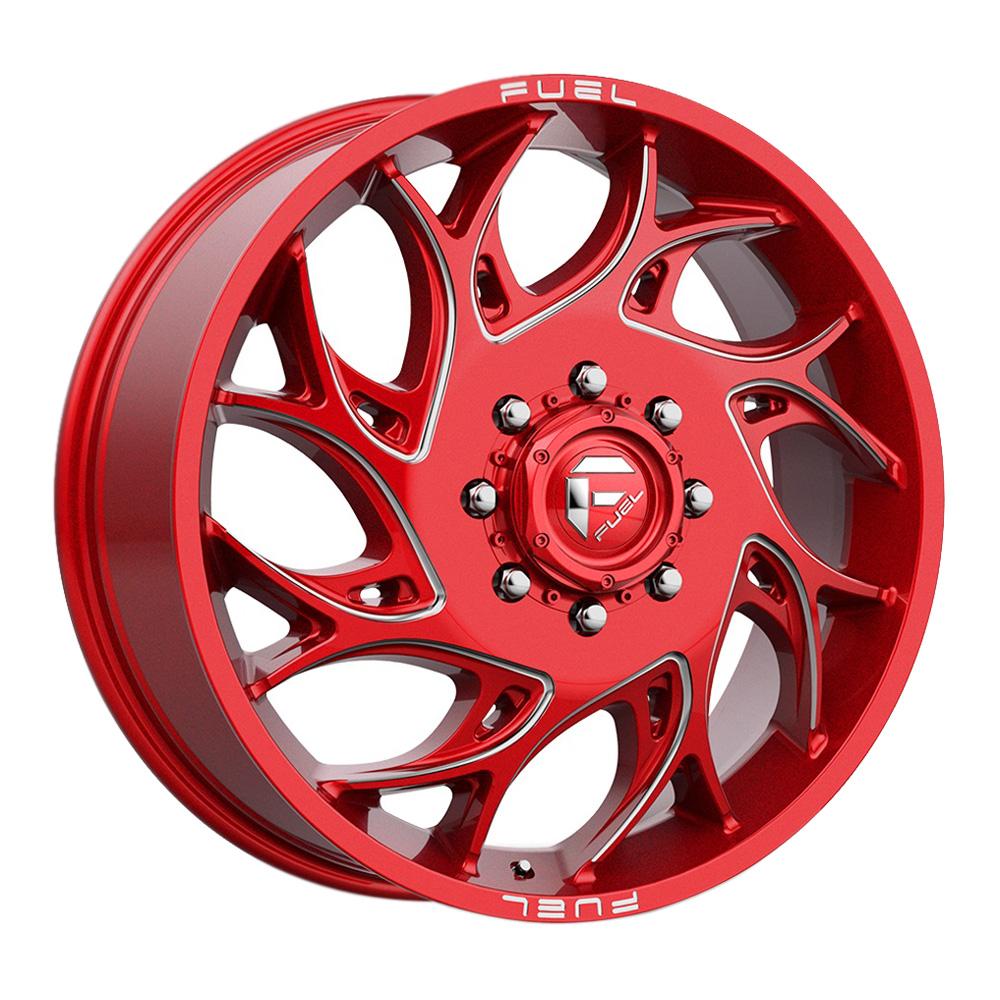 Fuel Wheels D742 Runner Dually - Red Rim
