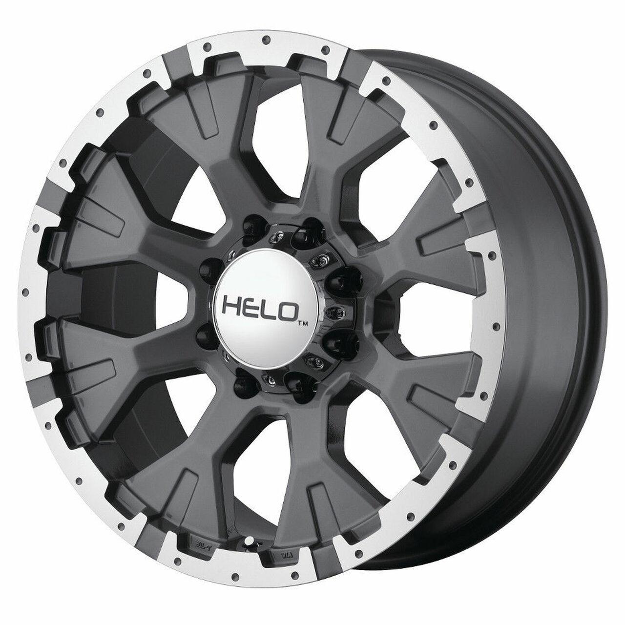 Helo Wheels HE878 - Dark Silver With Machined Flange Rim