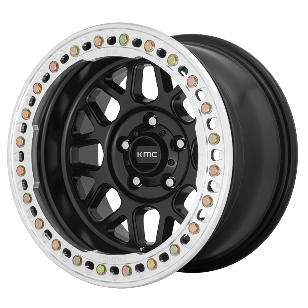 KMC Wheels KM235 Grenade Crawl - Satin Black Rim