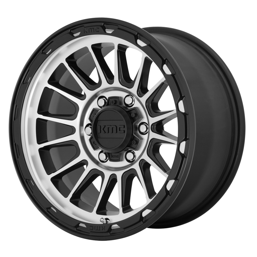 KMC Wheels KM542 Impact - Satin Black/Machined Rim