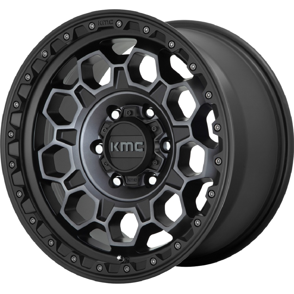 KMC Wheels KM545 Trek - Satin Black with Gray Tint Rim