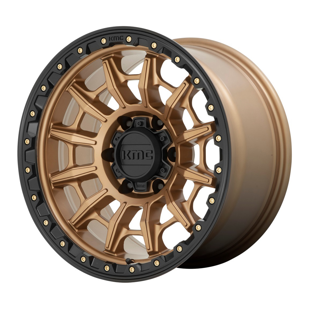 KMC Wheels KM547 - Matte Bronze with Black Lip Rim