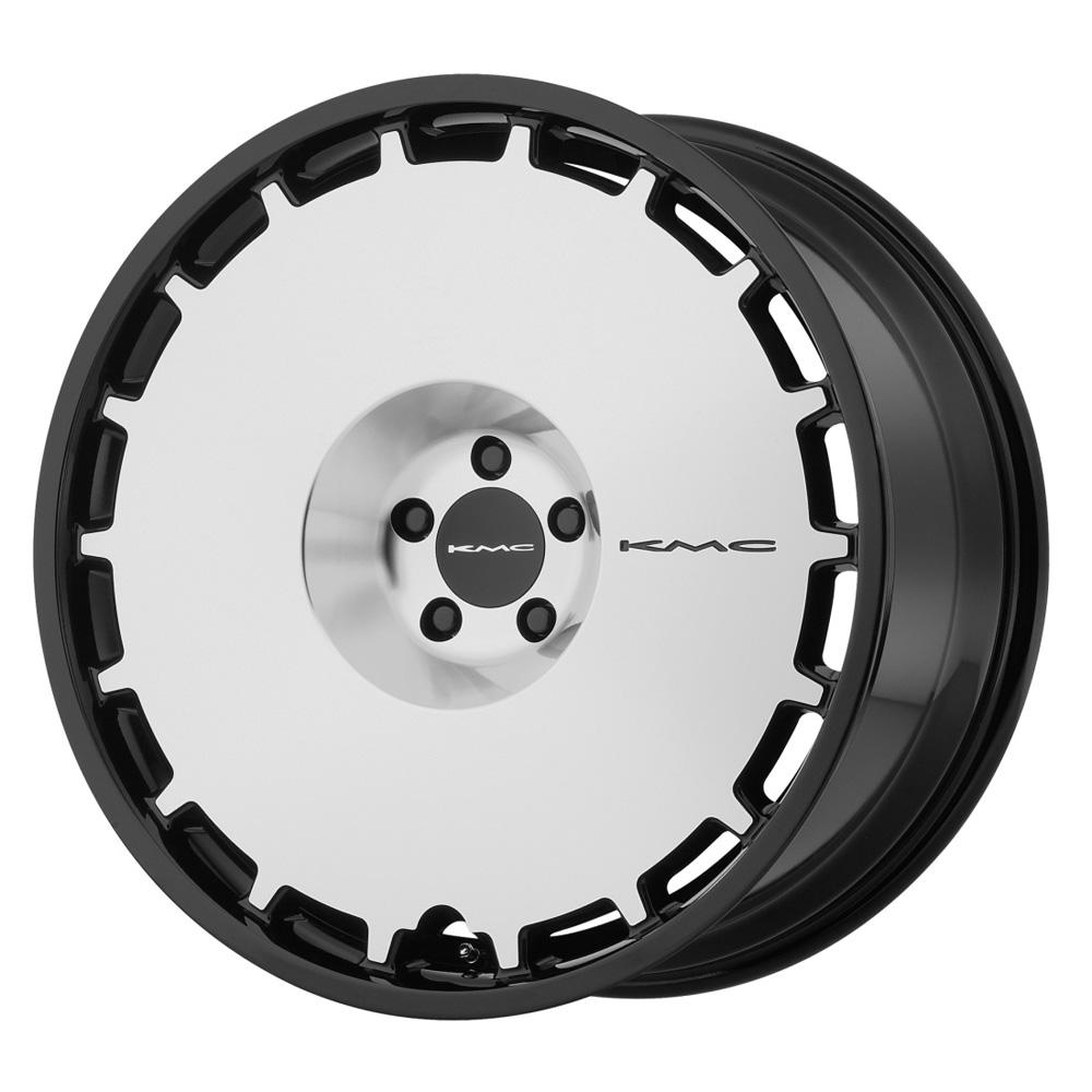 KMC Wheels KM689 Skillet - Gloss Black Machined Face Rim