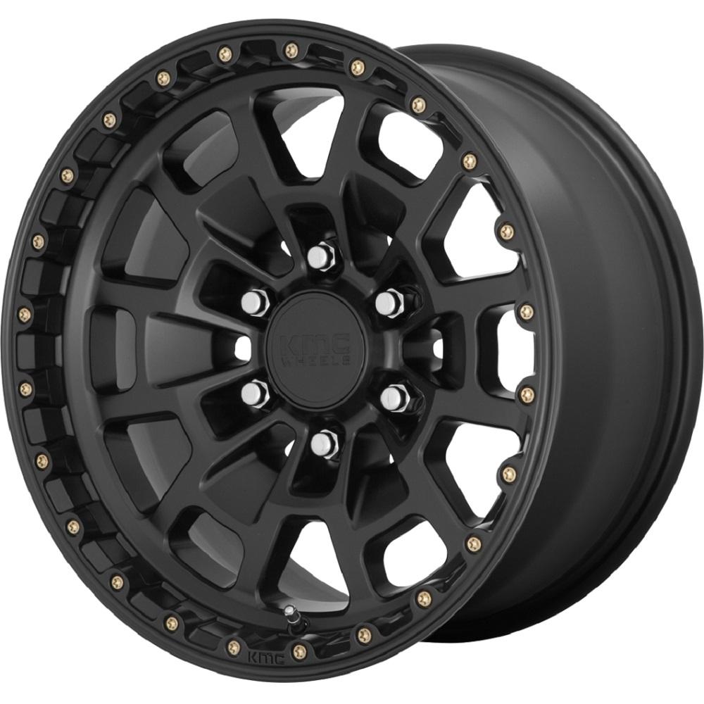 KMC Wheels KM718 Summit - Satin Black Rim