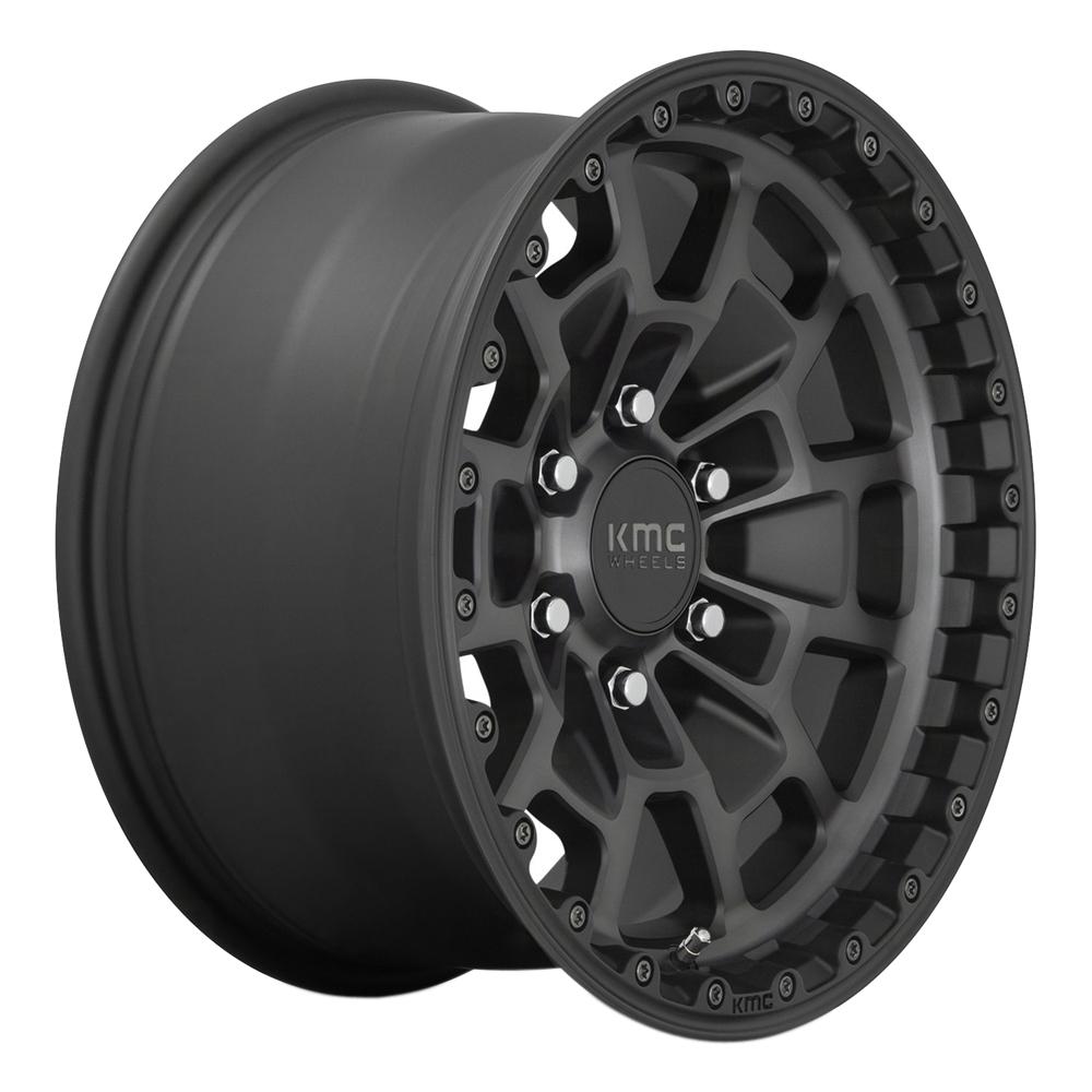 KMC Wheels KM718 Summit - Satin Black with Gray Tint Rim