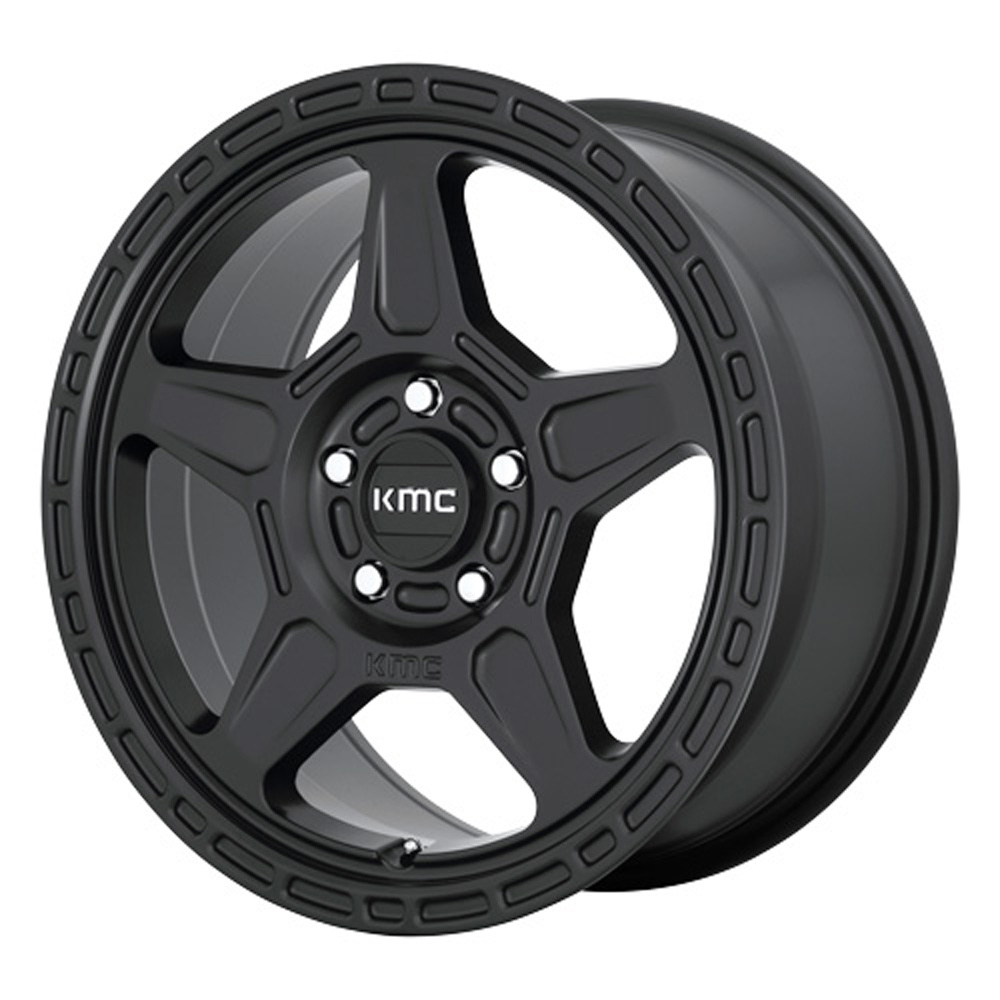 KMC Wheels KM721 ALPINE - Satin Black Rim