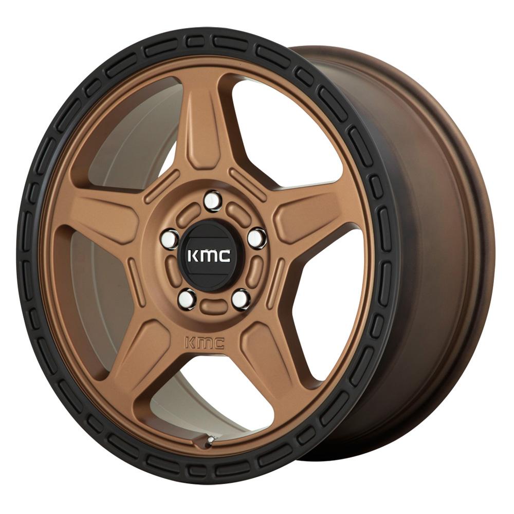 KMC Wheels KM721 Alpine - Matte Bronze/Black Lip Rim