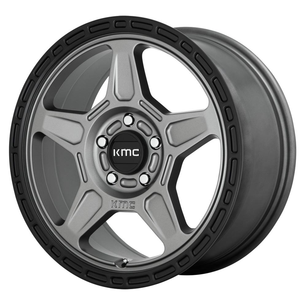 KMC Wheels KM721 Alpine - Satin Gray/Black Lip Rim
