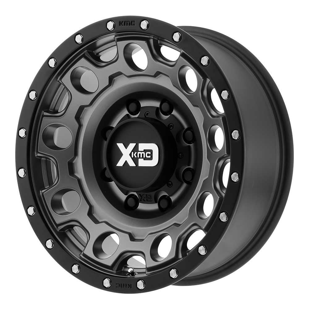 XD129 Holeshot - Matte Gray w/Black Reinforcing Ring