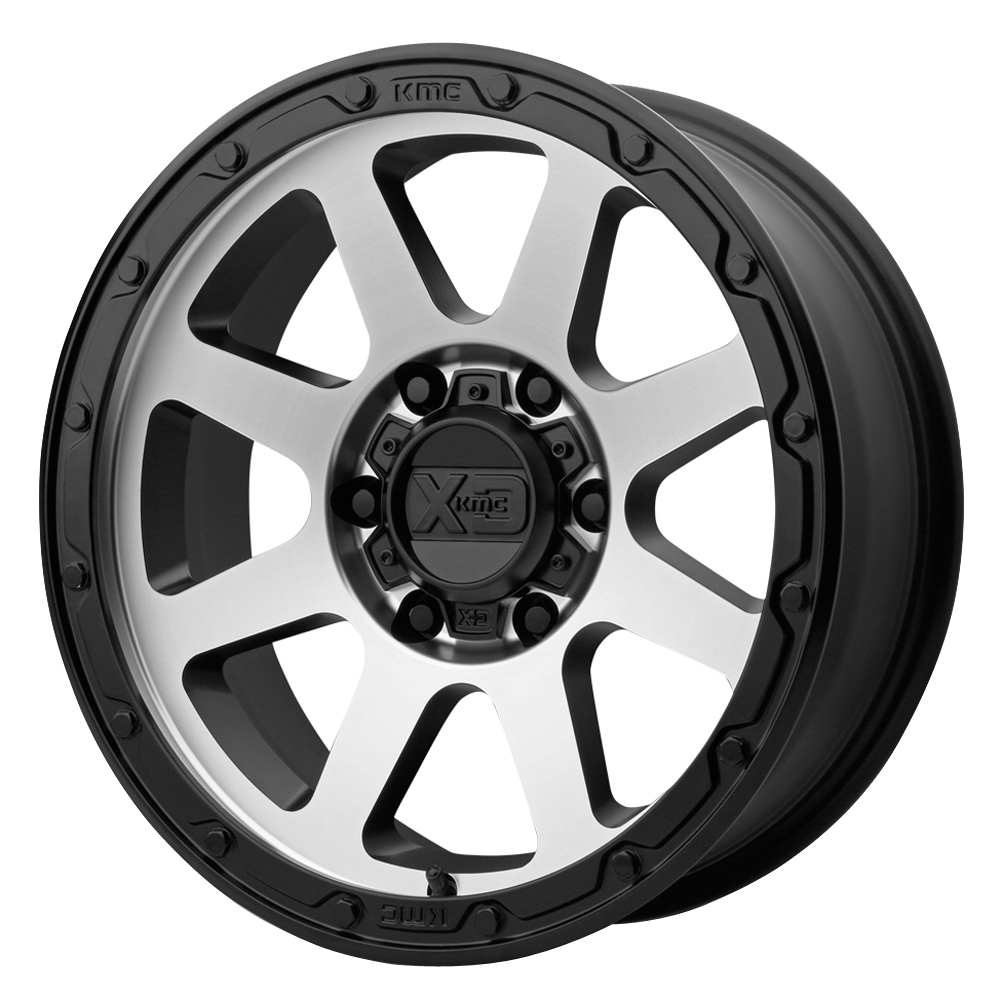 XD Series Wheels XD134 Addict 2 - Matte Black w/Machined Face Rim