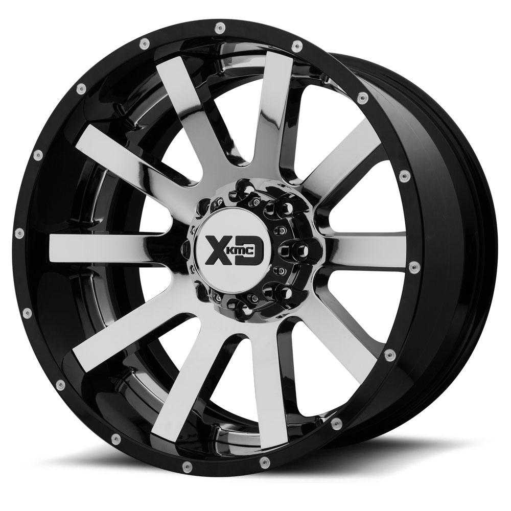 XD200 Heist - Chrome Center w/Gloss Black Milled Lip