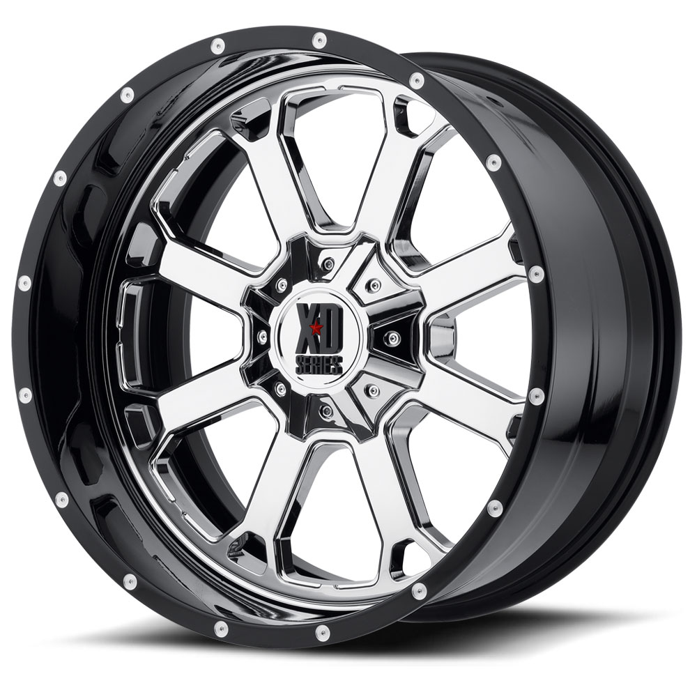 XD Series Wheels Buck 25 - Chrome Center w/Gloss Black Milled Lip Rim