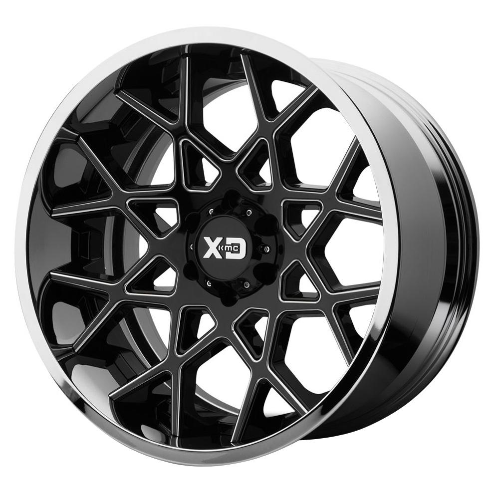XD Series Wheels XD203 Chopstix - Gloss Black Milled Center w/Chrome Lip Rim