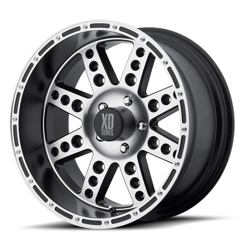 XD Series Wheels XD766 Diesel - Matte Black Machined Rim